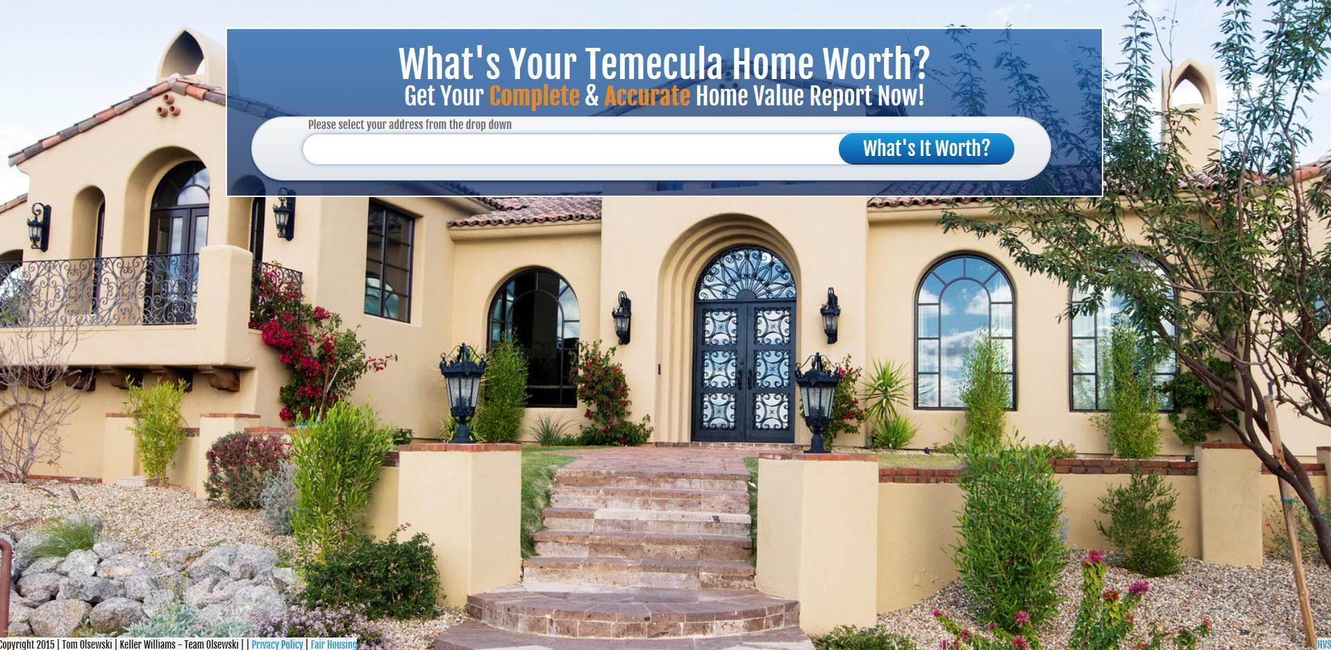 Temecula Home Value