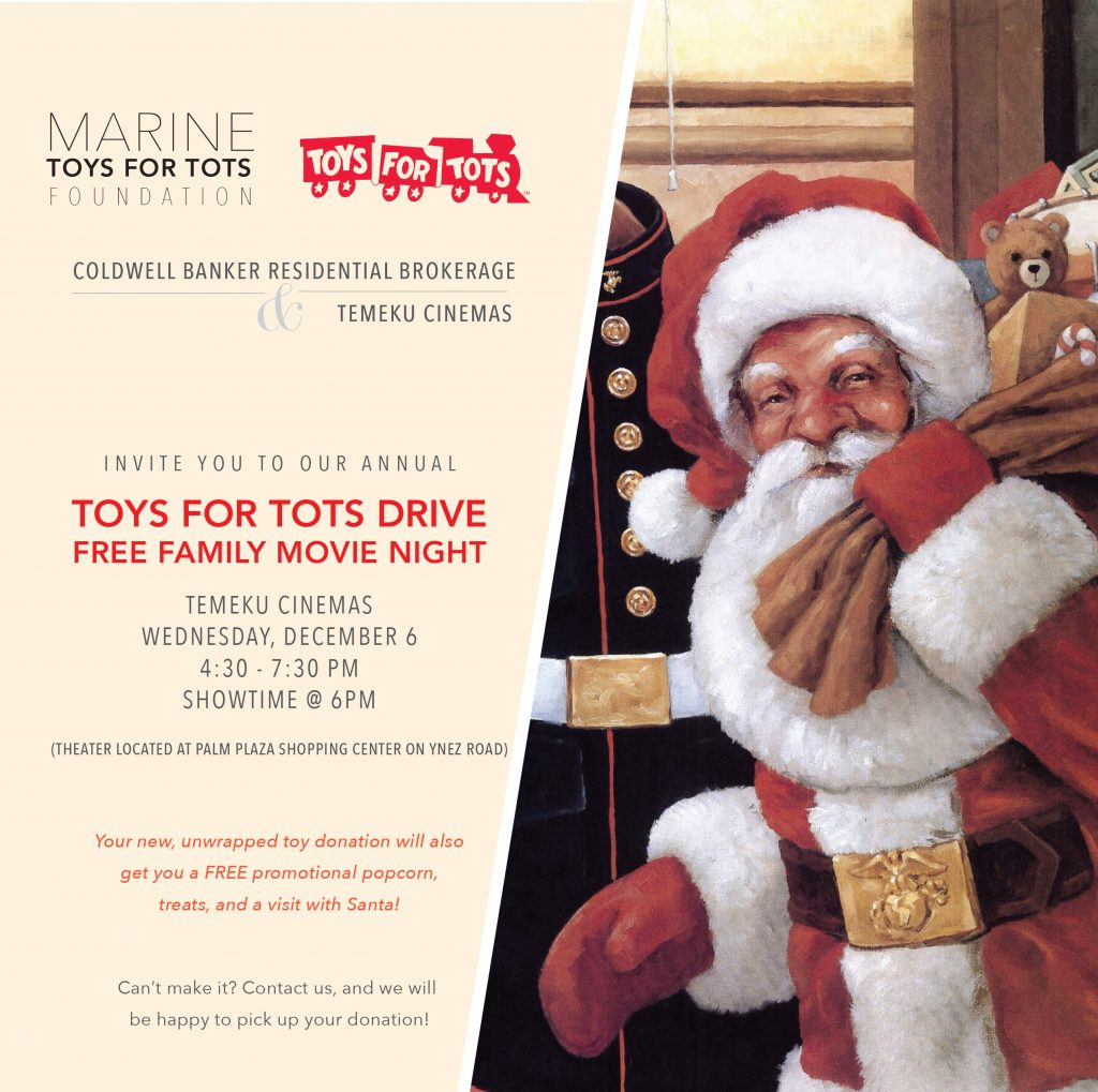 Toys For Tots Flyer 2017 : Toys for tots movie event