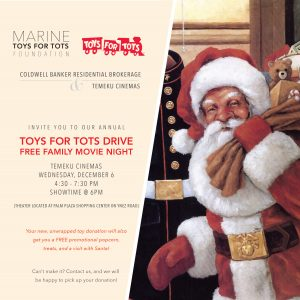 Toys for Tots Movie Event